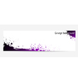 purple grunge banner vector image vector image