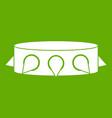 rock collar icon green vector image vector image