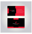 s letter man logo minimal corporate business card vector image vector image