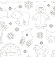 set eskimo characters pattern vector image
