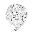 set icons social media vector image vector image