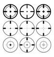 set of different sights on a white background vector image