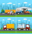 set of logistics and storage services vector image