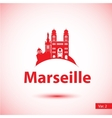 silhouette of the symbol of Marseille vector image vector image
