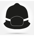 Silhouette symbol of fireman helmet vector image vector image