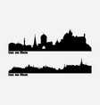 skyline two city views in germany linz am vector image vector image