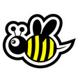 small bee vector image vector image