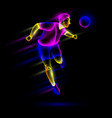 soccer player head shooting the soccer ball vector image vector image