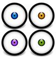 stylized eyeball icons graphics vector image vector image