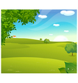 Sunrise green landscape vector image vector image