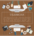teamwork flat design concepts for business and vector image