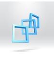 Three blue rectangular 3D frames vector image