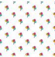 three colorful balloons pattern vector image vector image