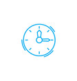 time management linear icon concept time vector image vector image