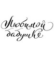 to beloved grandmother translation from russian vector image vector image