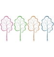 Trees pictograms vector image vector image
