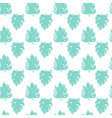 tropical leaf brush seamless pattern vector image vector image