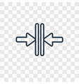 vertical merge concept linear icon isolated on vector image vector image