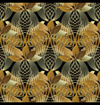 vintage ornamental 3d abstract seamless pattern vector image vector image