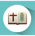 virgin mary guadalupe blessed bible design vector image