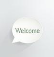 Welcome vector image vector image
