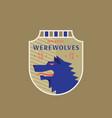 werewolves medeival sports team emblem abstract vector image