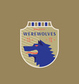 werewolves medieval sports team emblem abstract vector image vector image