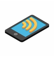 Wi-fi Internet connection on a smartphone vector image vector image