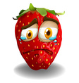 Strawberry with crying face vector image
