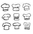 Chef hat icons vector image