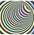 Colorful Striped Abstract Tunnel vector image