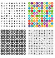100 farm icons set variant vector image vector image