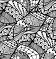 abstract doodle background vector image vector image