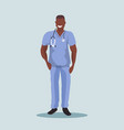 african male doctor with stethoscope man medical vector image vector image