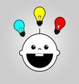 Baby smart icon vector image vector image
