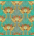 baroque floral 3d seamless pattern leafy vector image