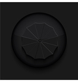black circle iconEps10 vector image vector image