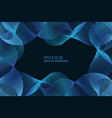 blue wave background for business presentation vector image