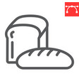 bread line icon bakery and breakfast loaf sign vector image vector image