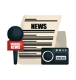 breaking news design vector image vector image