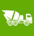 building mixer for concrete icon green vector image vector image