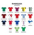 Bundesliga jerseys 2014 - 2015German football vector image vector image
