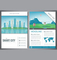 city brochure with urban landscape and suburb vector image vector image