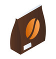 coffee bean pack icon isometric style vector image