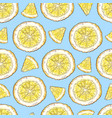 colorful lemon fruit and citrus ice cream seamless vector image vector image