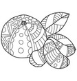 coloring pages for adultshand made sketch vector image