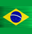 concept brazilian flag green yellow and blue vector image vector image