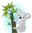 cute koala on a tree vector image vector image