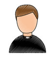 Cute priest avatar character vector image