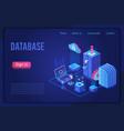 database data storage dark neon light isometric vector image vector image